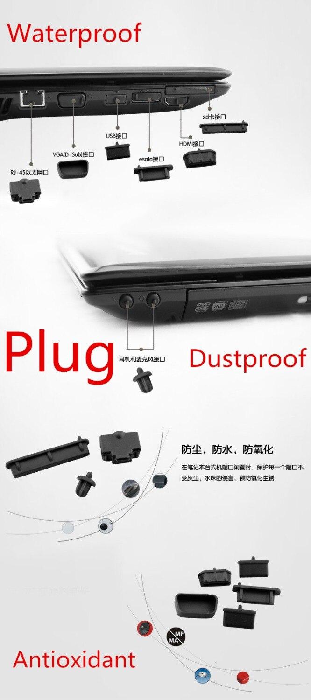 À prova ddustágua dustproof portátil preto silicone plug porta capa para msi gt62 gt62vr gt73 gt73vr gs63 gs63vr gs73 gs73vr