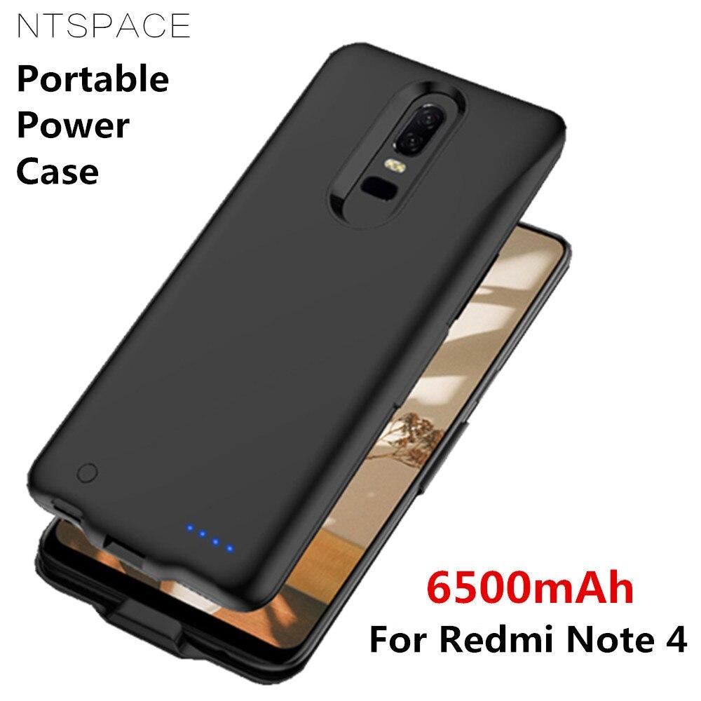 Чехол-аккумулятор для Xiaomi Redmi Note 4, 6500 мАч