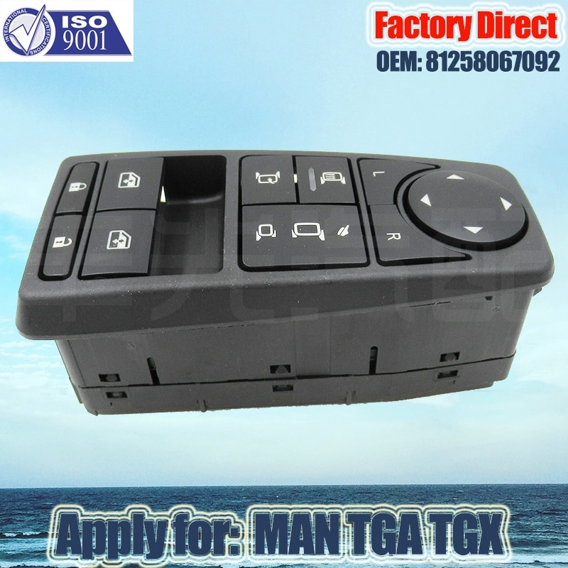 Direto da fábrica 81258067092 interruptor de controle do elevador da janela de energia automática aplicar para o homem caminhão peças homem tgs tgx tgl tgm lhd lado motorista