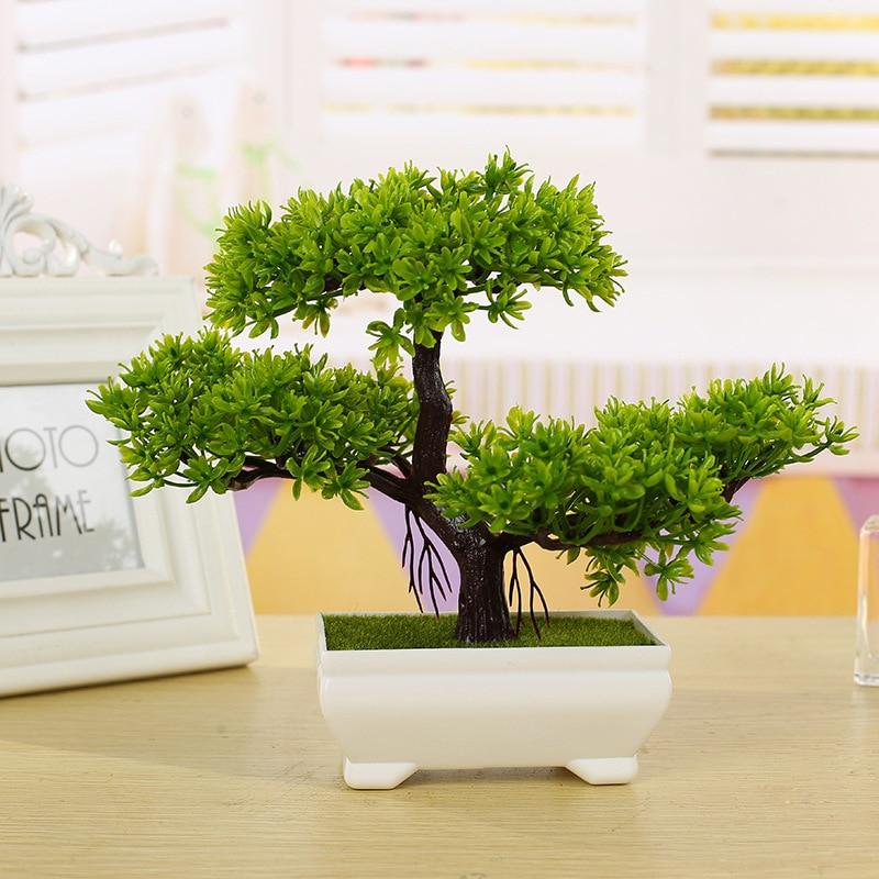 REDJCK nowe sztuczne rośliny Bonsai małe drzewa rośliny doniczkowe sztuczne kwiaty ozdoby doniczkowe do dekoracji wnętrz wystrój ogrodu hotelowego