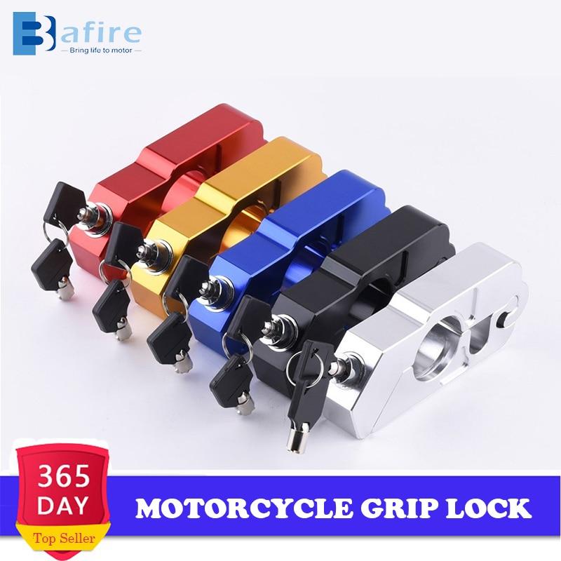 Motorcycle Grip Lock CNC Security Safety Locks Handlebar Handset Brake Lever Disc Locking Fit Scooter ATV Anti-Theft Motor Lock