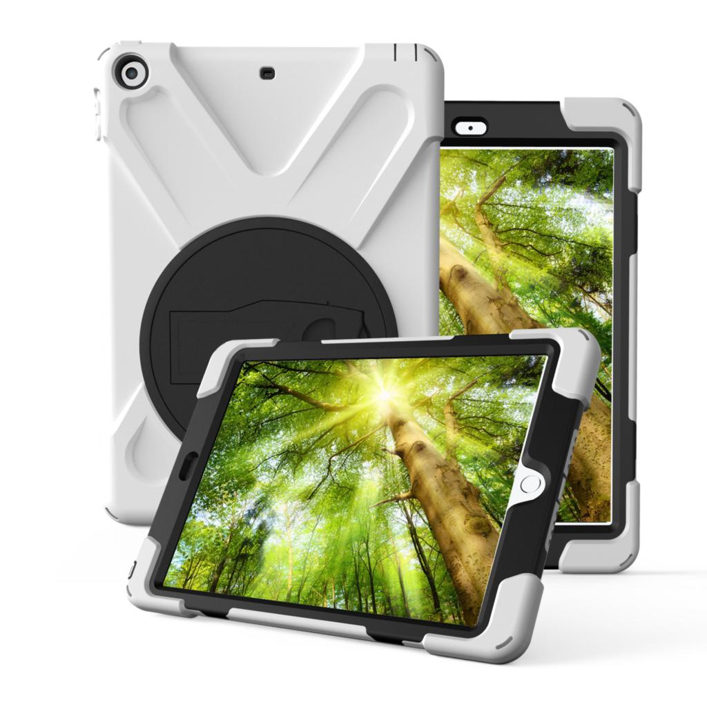 Funda para Apple iPad 9,7 pulgadas 2017 2018, nuevo modelo A1822 A1823 A1893, ZVRUA, armadura a prueba de golpes de silicona suave + funda dura