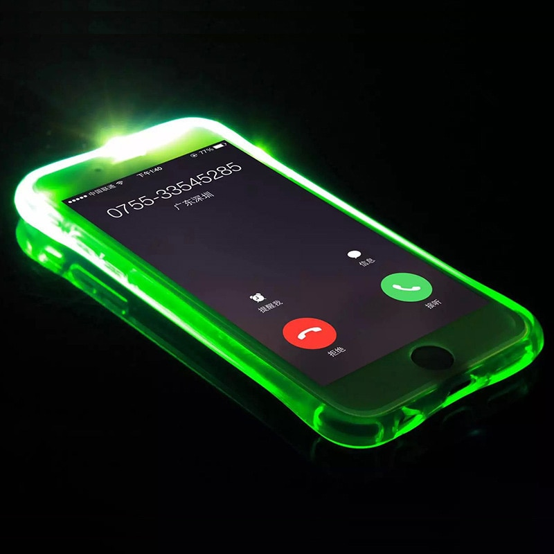 Caso do flash do diodo emissor de luz para o iphone 11 pro max x xs xr xr max capa para o iphone 6s 7 8 mais telefone flash chamada escudo