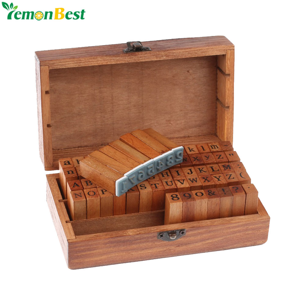 Деревянный Английский алфавит+цифры(70 шт.)в деревянной коробке