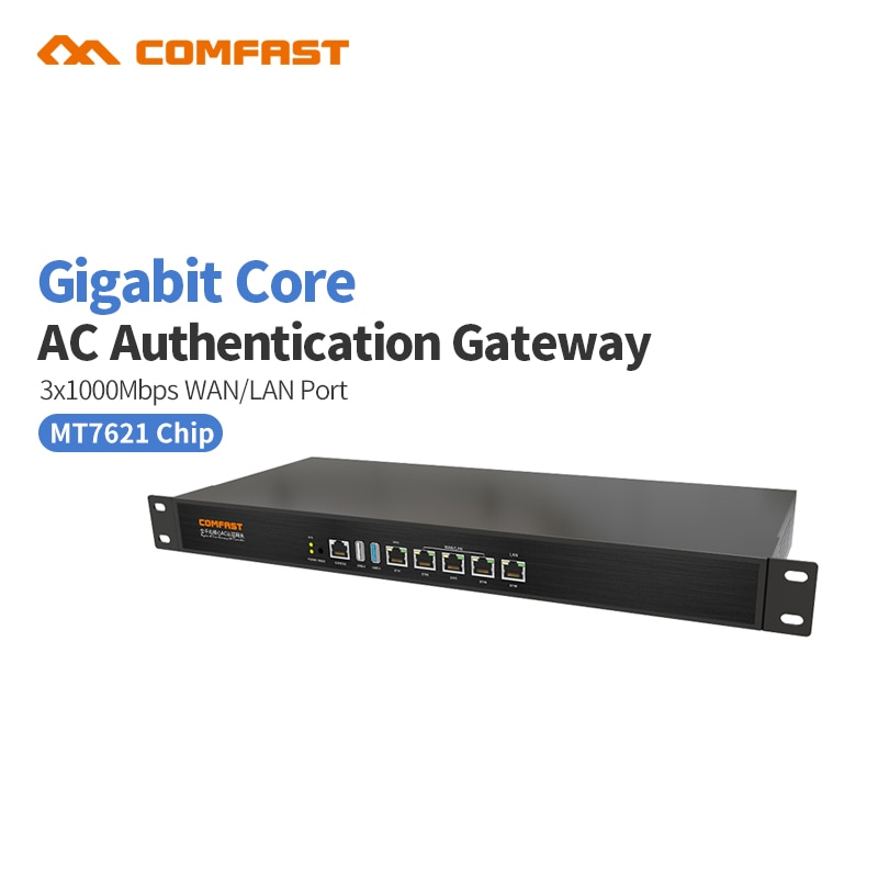 COMFAST полный гигабитный ядро шлюз AC шлюз контроллер MT7621 wifi проект менеджер с 4*1000 Мбит/с WAN LAN порт 880 МГц CF-AC200