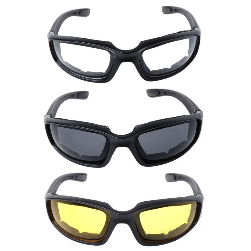 Lunettes de cyclisme tactiques Sports de plein air cyclisme chasse protecteur yeux HD coussinets en mousse mode vélo conduite Protection lunettes