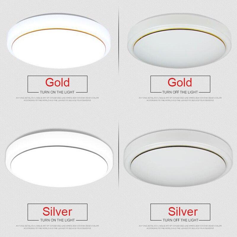 Nueva lámpara LED de acrílico para techo blanca redonda para dormitorio, lámparas de balcón para cocina moderna, pasillo