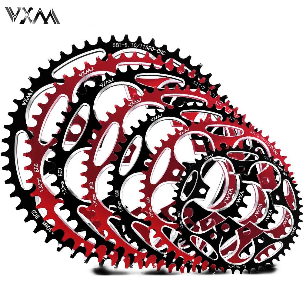 Vxm estrada bicylcle 130bcd 50 t 52 t 54 t 56 t 58 t 60 t estreito grande roda dentada liga da bicicleta ultraleve escalada placa de corrente energia