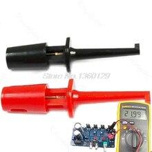 1 Pair Single Hook Clip Test Probe Mini Grabber For Multimeter New S08 Wholesale&DropShip