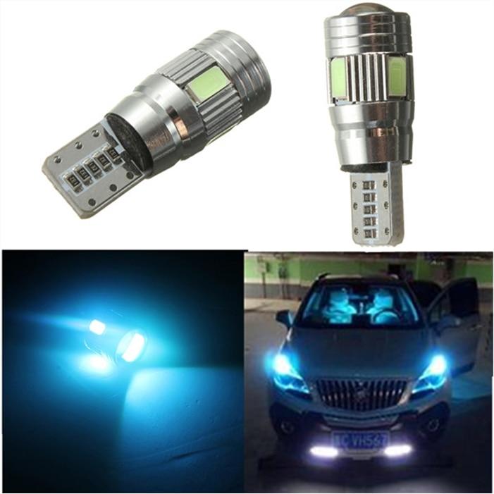 Alta calidad T10 W5W 194 168 6 LED 5630 SMD Canbus Error gratis coche Auto estacionamiento luz lámpara DC12V azul hielo