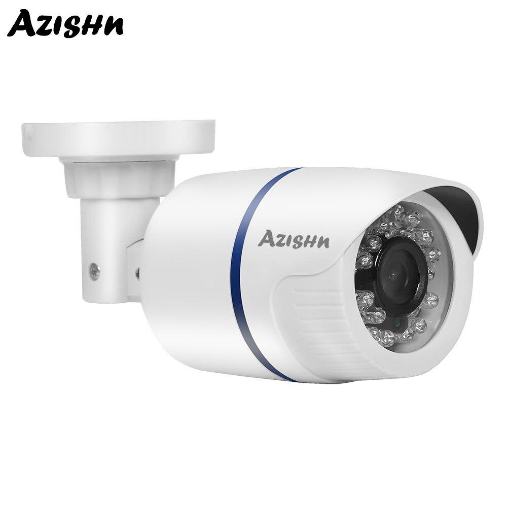 Cámara de seguridad AZISHN POE IP 1080P 2.0MP CCTV Video vigilancia IR visión nocturna impermeable al aire libre bala red Cámara Onvif
