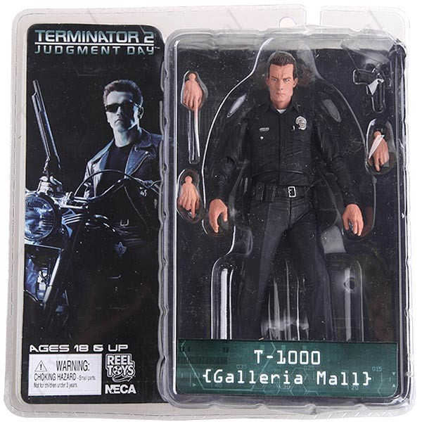 "Экшн-фигурки NECA The Terminator 2 T-1000 Galeria Mall, ПВХ, Коллекционная модель игрушек, 7 "", 18 см"