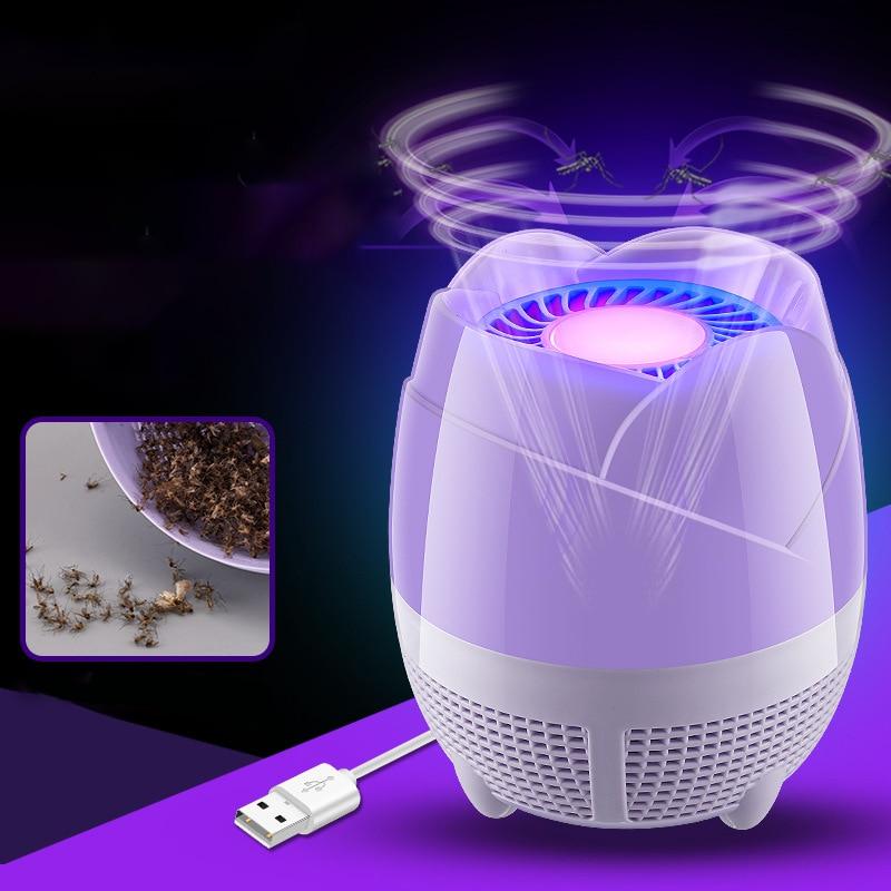 Mata mosquitos electrónico USB mata insectos electrónico lámpara con trampa antimosquitos No tóxica LED sin radiación para el hogar y la Oficina