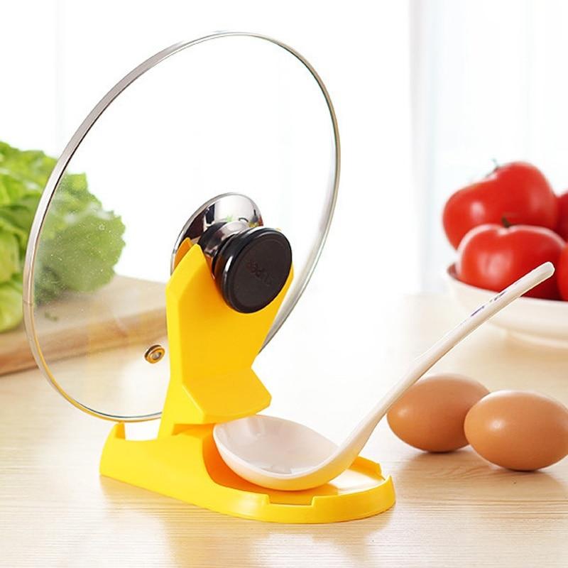 Многофункциональная Складная подставка для кастрюли, 1 шт., подставка для хранения ложки с крышкой, подставка для посуды, инструмент для при...