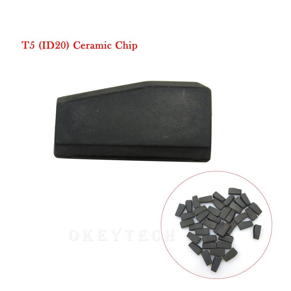 Lote de 10 unidades de Chip de llave de coche de alta calidad T5, chip transpondedor de cerámica clonable, T5-20 de identificación para llave de coche, herramienta de cerrajero de Chip T5