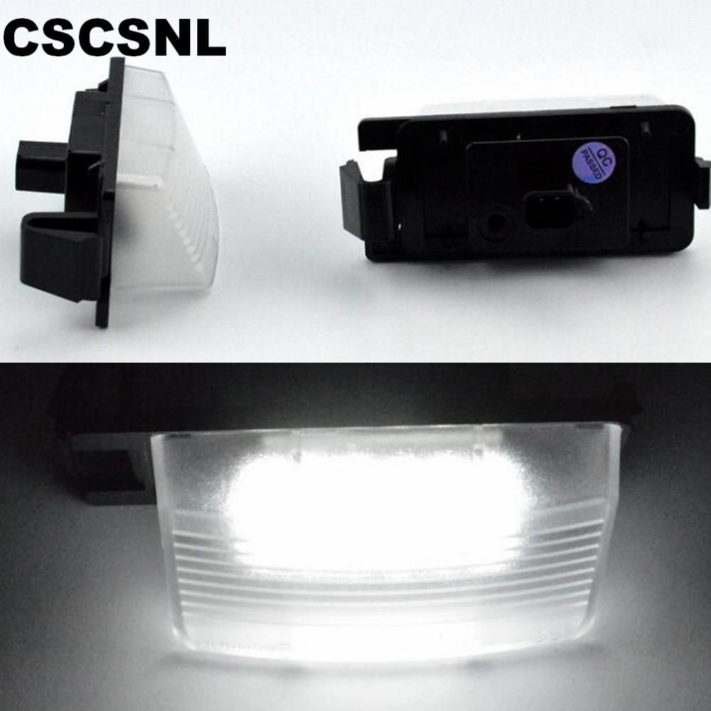 CSCSNL 2 Pcs 18 12 V Livre De Erros 3528 SMD Número LED License Plate Luz Lâmpadas apto para INFINITI Nissan skyline V36 G35 G37 350Z