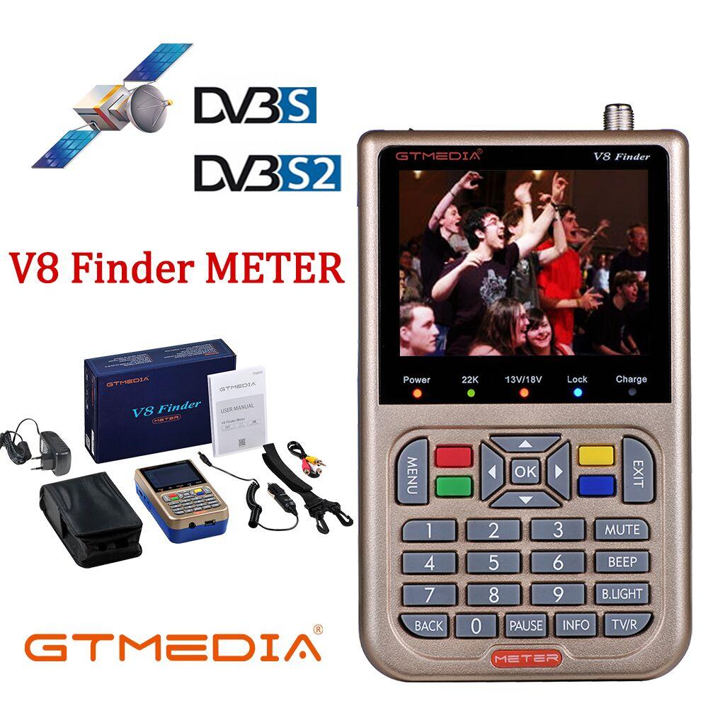 FREESAT/medios GT V8 buscador HD DVB-S2 buscador Digital por satélite de alta definición buscador Satélite DVB S2 Satfinder 1080P