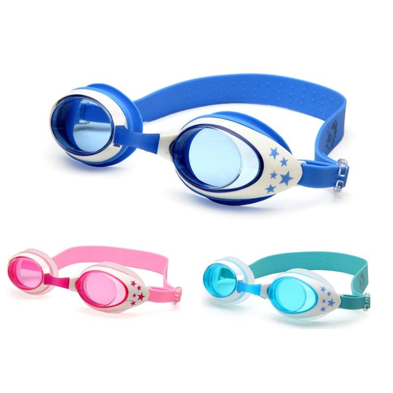 Gafas de natación para niños, gafas de natación profesionales de dibujos animados para niños, niñas, piscina antivaho, gafas de natación impermeables, gafas de buceo de silicona