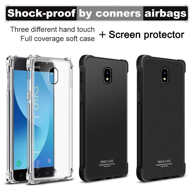 Versión airbag funda de para Samsung Galaxy J5 de 2017 con Protector de pantalla IMAK funda trasera de silicona TPU suave para Samsung Galaxy J5 Pro