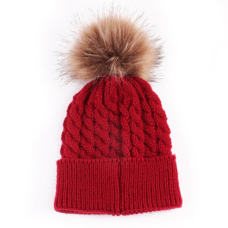 2017 Otoño Invierno moda niños cálido sombrero para niñas gorro tejido a estrenar grueso Niño Beanie niños chico chica gorra 5 colores