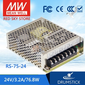 Оптовая цена MEAN WELL RS-75-24 24V 3.2A meanwell RS-75 76, 8 W одиночный выход импульсный источник питания