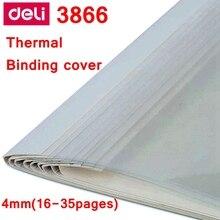 [ReadStar] 10 PCS/LOT Deli 3866 couverture de reliure thermique A4 couverture de reliure de colle 4mm (26-35 pages) couverture de machine à relier thermique