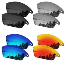 SmartVLT 4 Pairs Polarized Sunglasses Replacement Lenses for Oakley Fast Jacket - 4 Colors