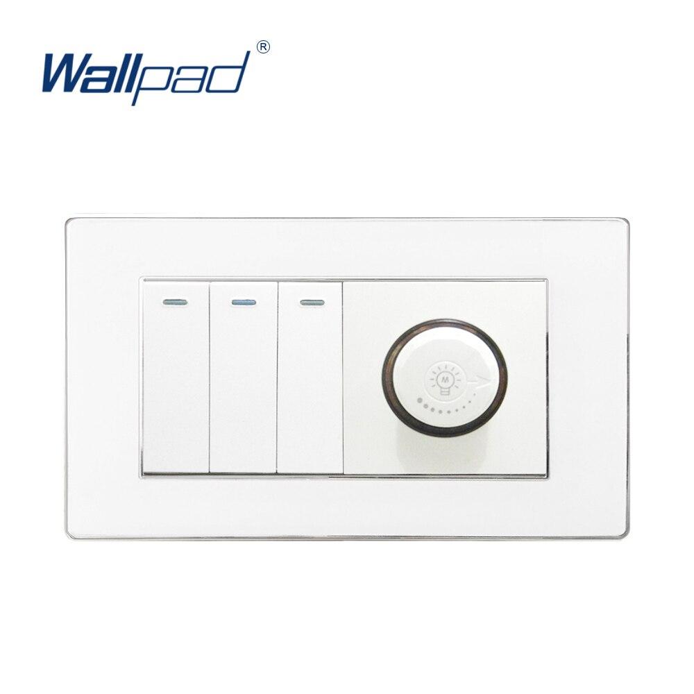 باهتة و 3 عصابة 2 طريقة التبديل Wallpad جدار ضوء التبديل الاكريليك لوحة مع فون الروبوت USB تهمة سريع منفذ 146*86 مللي متر