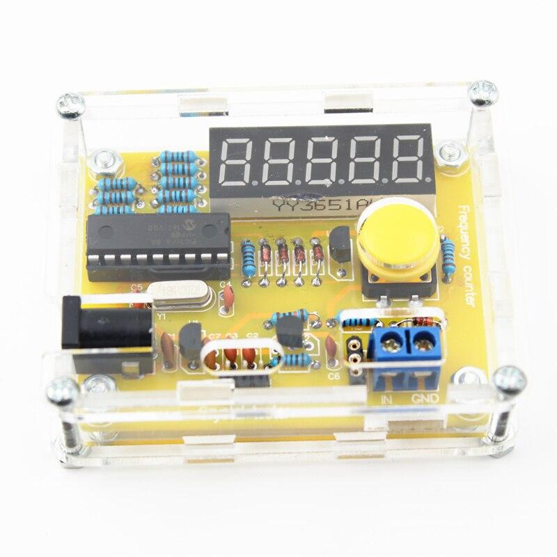 ¡Novedad! Kits DIY de 1Hz-50 MHz, probador de oscilador de cristal, probador de frecuencia, Contador, medidor, caja, mejor precio, Kit Led DIY duradero