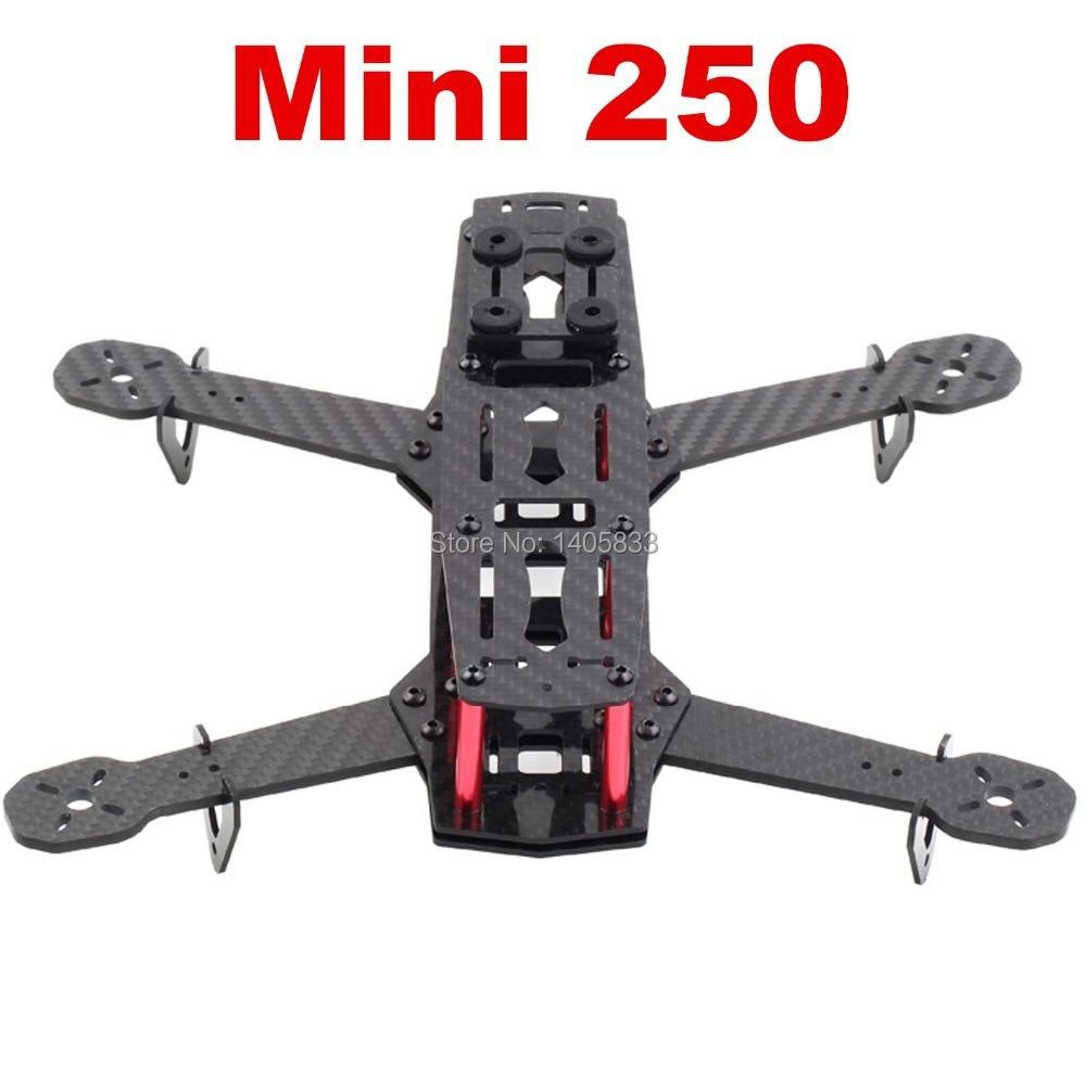 Nuevo QAV250 4 ejes Mini 250 FPV RC Quadcopter Kit de Marco Multirotor 3 K CF fibra de carbono y vidrio fibra para que elijas