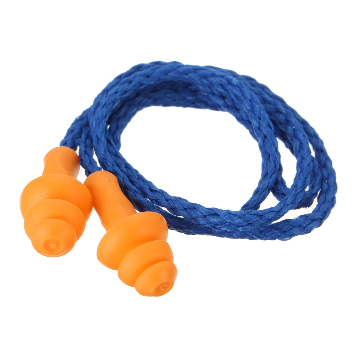 10Pcs/lot Soft Silicone Corded Ear Plugs ears Protector Reusable Hearing Protection Noise Reduction Earplugs Earmuff