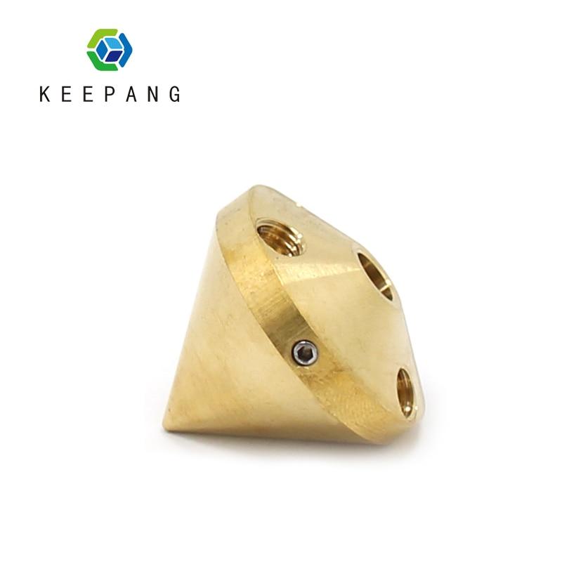 3D Printer 3 in 1 out Nozzle multi color brass Extruder Diamond hotend 0.4mm 1.75mm Filament Reprap 3D printer parts