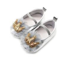 Yenidoğan Pullu Taç Prenses Ayakkabı 0-18 Ay Ilk Yürüyüşe Bebek Kız Ayakkabı Yumuşak Kaymaz Beşik ayakkabı