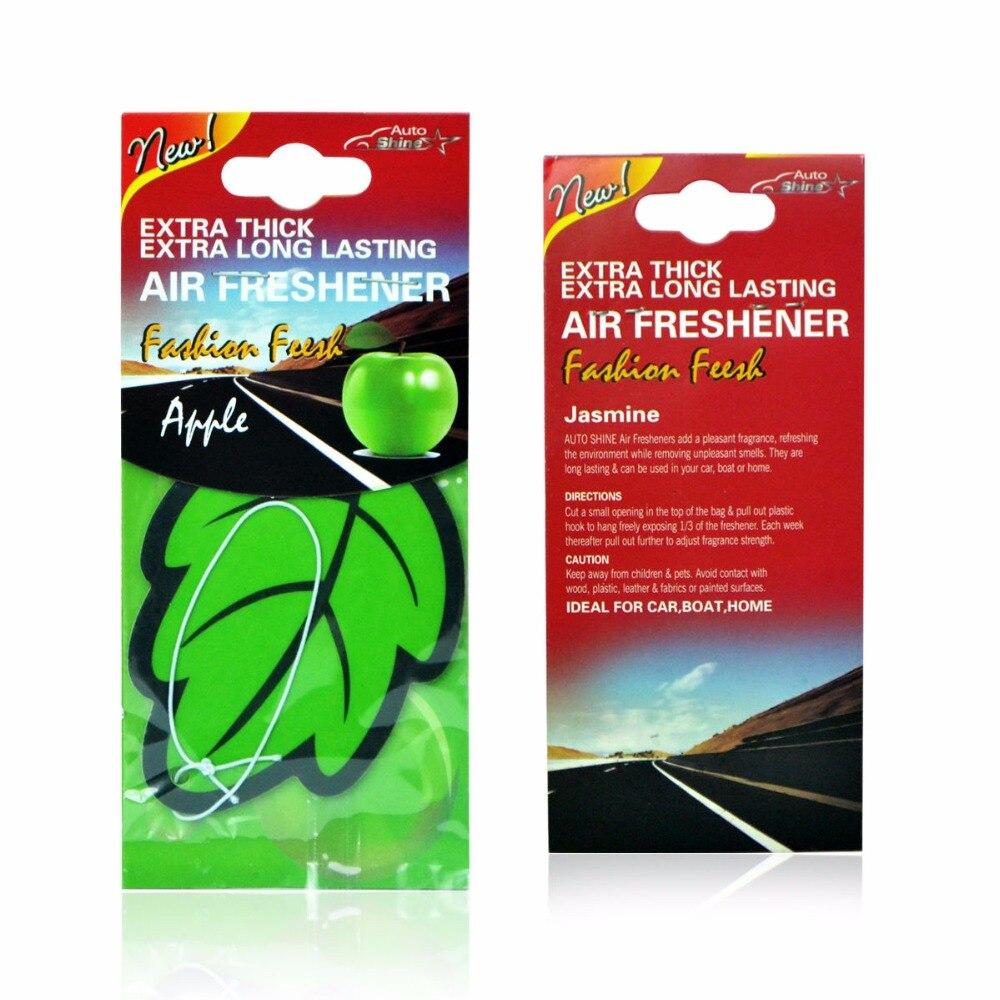 6 PCS/Lot Car Air Freshener Leaves Paper Hanging Car Accessories Interior Vehicles Auto Decoration Cars Air Freshener Ornament
