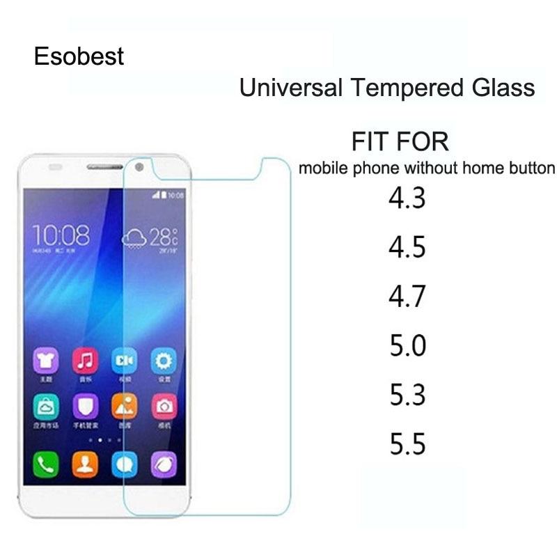 2 uds Universal protector de pantalla de vidrio templado para xiaomi LG...