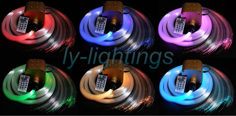 Twinkle sterne 16 watt lwl-lichter led licht motor + 300 stücke optische fasern drahtlose fernbedienung dimmbare funkelnden sternen sky ceil
