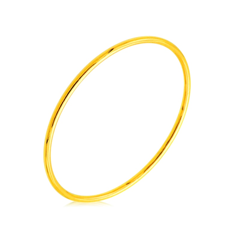 Nueva llegada 24K oro amarillo anillo de oro 999 dedo anillo banda 1 piezas La dama regalo P6305