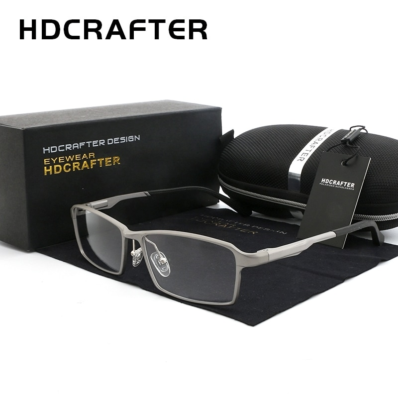 HDCRAFTER 150mm Titanium Frame Optical Recipe Prescription Glasses Men Diopter Myopia Hyperopia Eyeg
