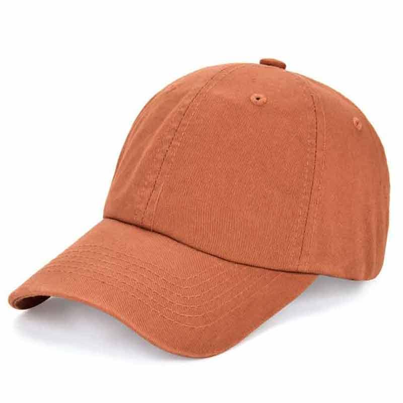Gorra de béisbol suave Lisa ajustable gorra de algodón lavada 100% papá sombreros Unisex diario naranja Rosa negro rojo azul caqui marrón