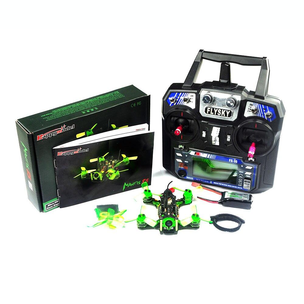Happymodel Mantis85 Mantis 85mm, Dron de carreras con visión en primera persona con Supers_F4 6A BLHELI_S 5,8G 25MW 48CH 600TVL RTF