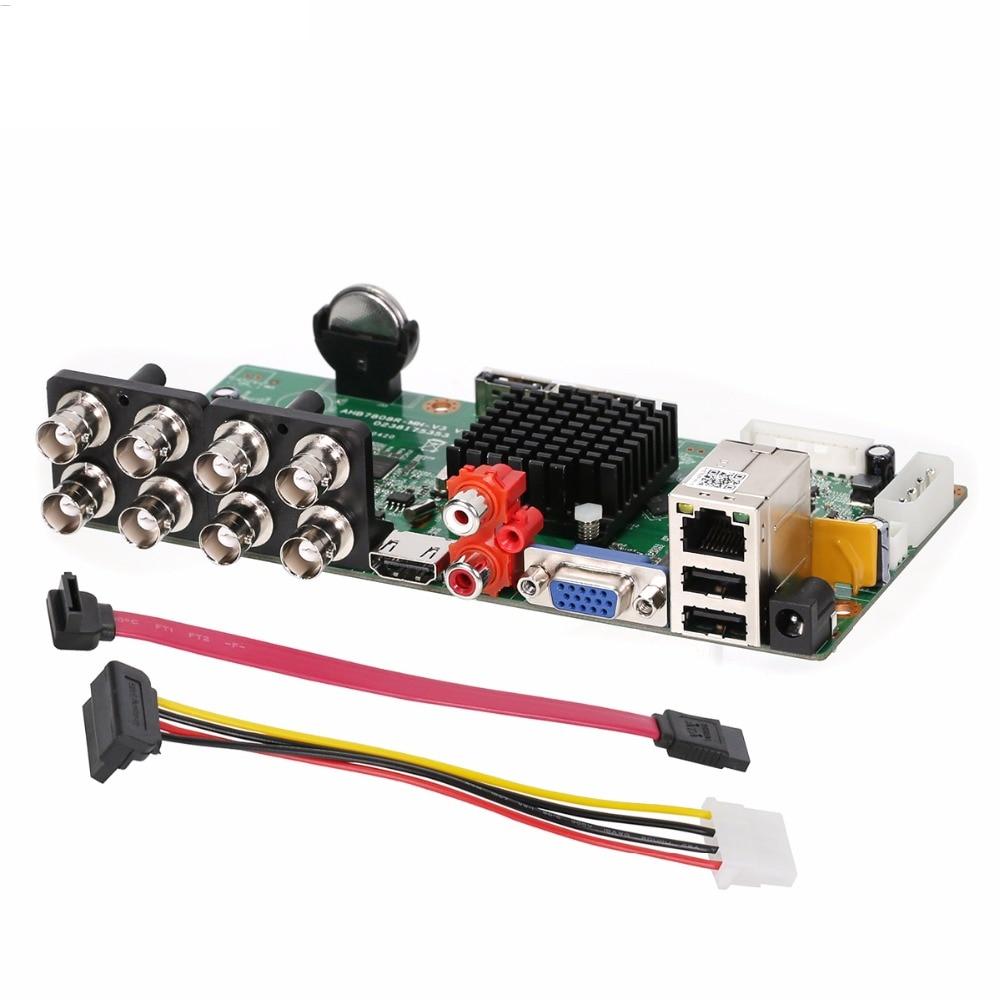 5 En 1 8 canales 1080N cámara analógica Video grabadora placa 8CH DVR híbrido NVR placa para 2MP analógica AHD CVI TVI cámara IP
