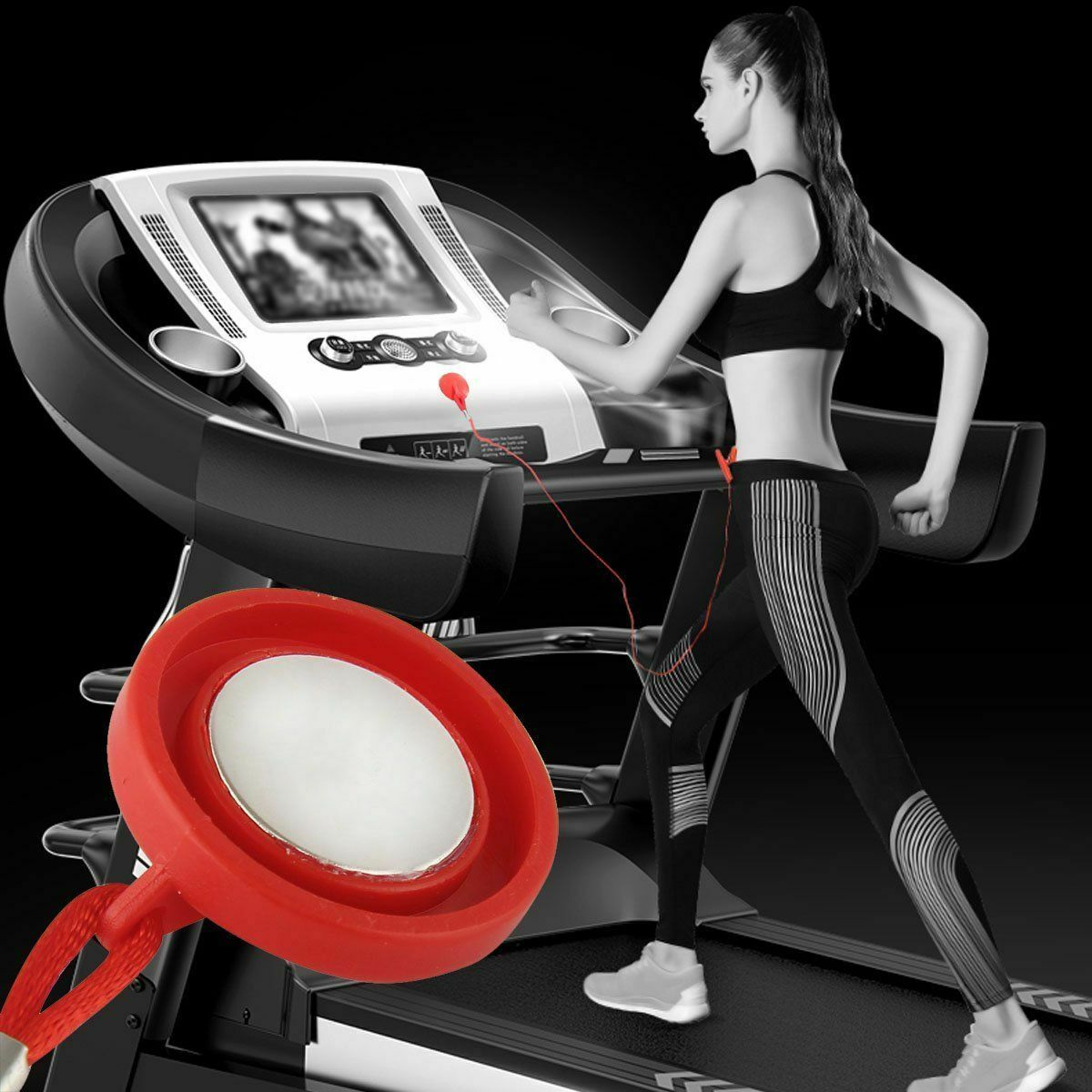 Safety Universal Sports Running Machine Safety Safe Key Treadmill Magnetic Security Switch Lock Red Useful