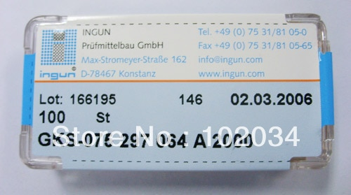 100 قطعة/الوحدة 100% الأصلي INGUN GKS075-297-064 GKS075-297 064 2000 الربيع اختبار التحقيق بوجو دبوس صنع في ألمانيا