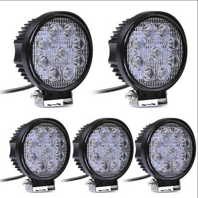 27W 4 inch LED Work Light 5D Flood Spot Led Beams Driving Lamp for Truck Boat Offroad Jeep ATV 4WD 12V 24V Fog Light
