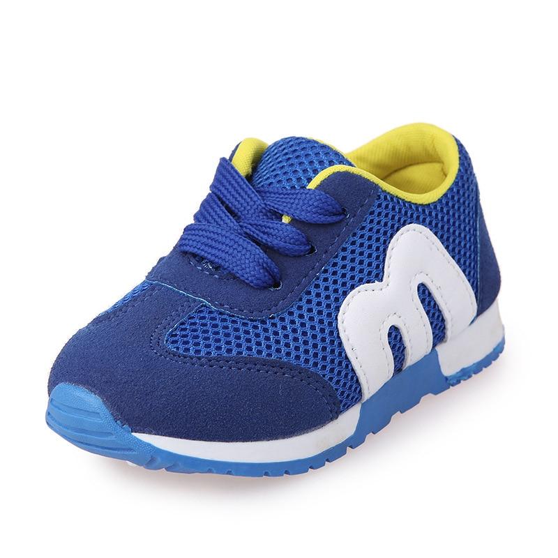 Nuevos zapatos para niños, zapatillas deportivas antideslizantes de fondo suave para niños, zapatillas a la moda informales, zapatillas planas, mocasines de malla