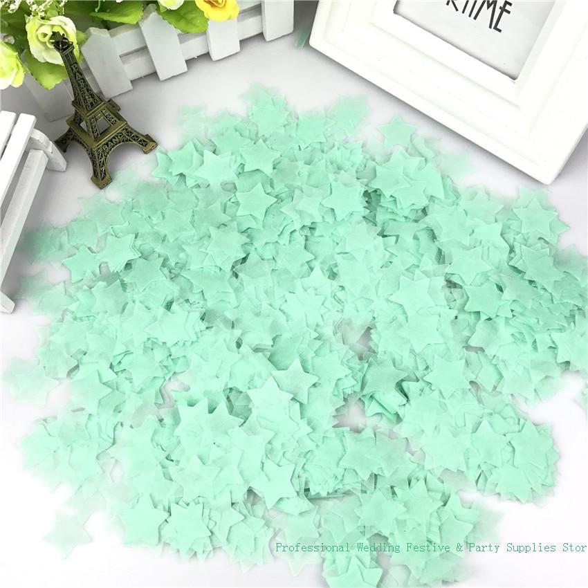 Мята-зеленый маленький кружок конфетти из папиросной бумаги, 2,5 см, 15 г/пакет, украшения для свадьбы, вечеринки на день рождения ребенка