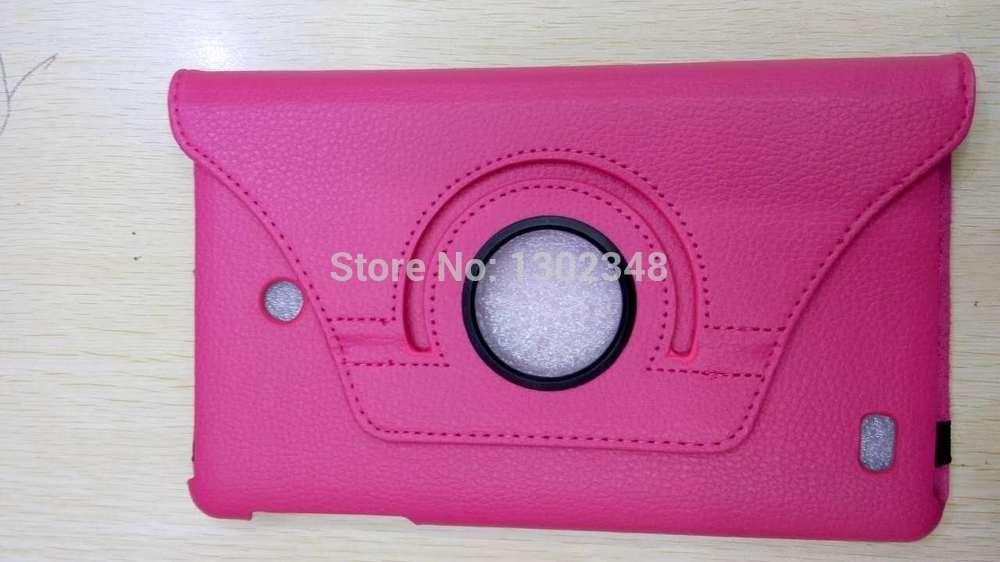 Giratorio de 360 grados de rotación Litchi Flip soporte de la PU de la piel de cuero de la cubierta de la cáscara Funda Capa Coque caso para LG G Pad 8,0 V480 V490 Tablet