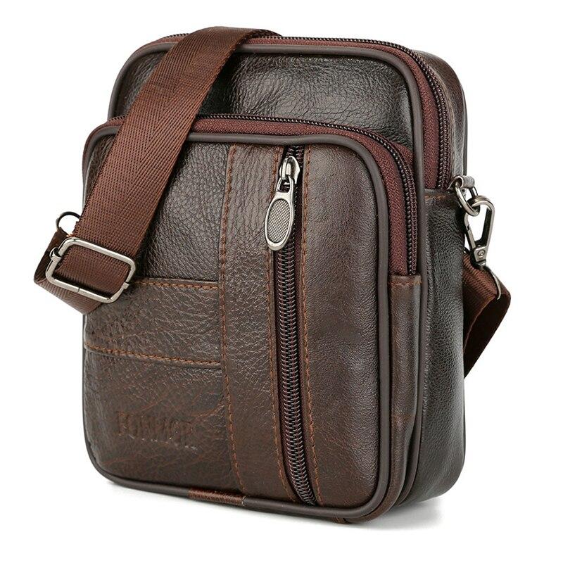 Genuine Leather Vintage Male Men Messenger Bags Brand Designer Shoulder Handbags New Cowhide Mens Bag