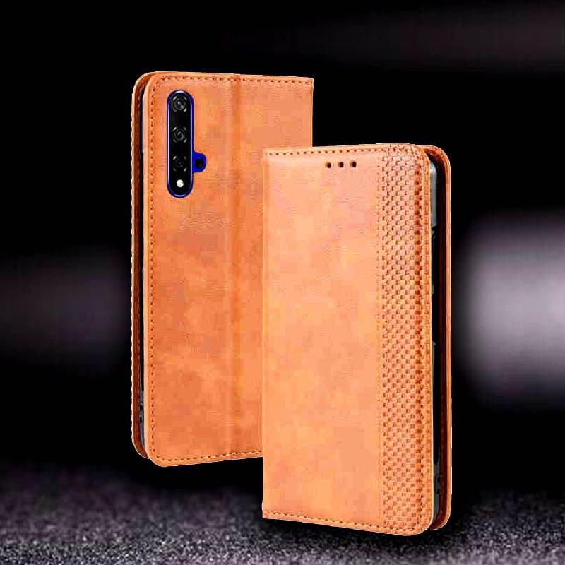 Estojo De Couro PU Para Huawei Honor 20 Cobertura Pro Caso Protetor Rede Etui Coque Magnético Para Huawei Honor 20 20Pro caso Da Habitação