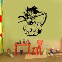 Autocollant Mural vinyle boule Dragon Sun Wukong   Autocollant Mural, en vinyle, pour enfants chambre, Goku, dessin animé, nuage de Somersault, murale J33